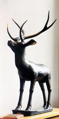 Egyptian stag bronze statue